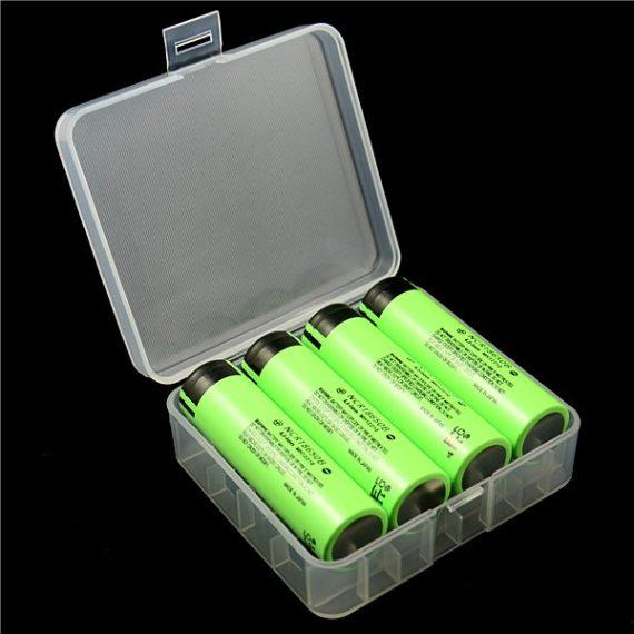 Aufbewahrungsbox D1 für 4x 18650 oder 2x 26650 Li-Ion Akkus